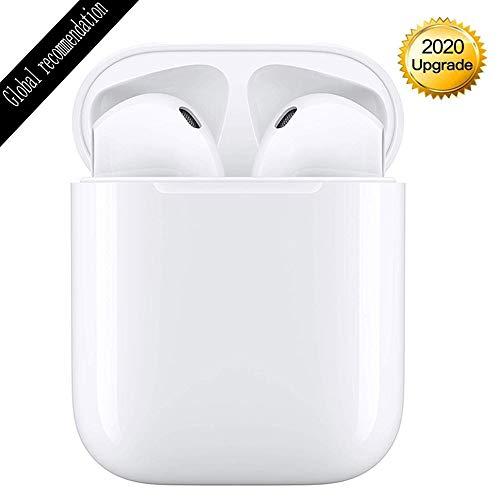Bluetooth Kopfhörer,In-Ear-Kopfhörer,Sport-Kopfhörer CVC 8.0 Noise Cancelling Hi-Fi Stereo Sound mit Mic,IPX7 wasserdicht mit Ladekoffer,Kompatibel mit