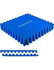 MSPORTS Zestaw mat ochronnych premium – 8 mat ochronnych 3,175 m²   ochrona podłogi 60 x 60 cm z końcówkami   grubość: 1,2 cm   maty puzzle, mata gimnastyczna