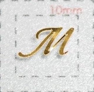 Nameネイルシール【アルファベット?イニシャル】大文字ゴールド( M )1シート9枚入