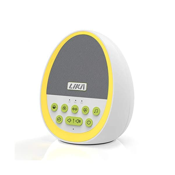 Likii White Noise Machine, Baby Night Light, 29 Sounds with 8 Colour Nightlight,...