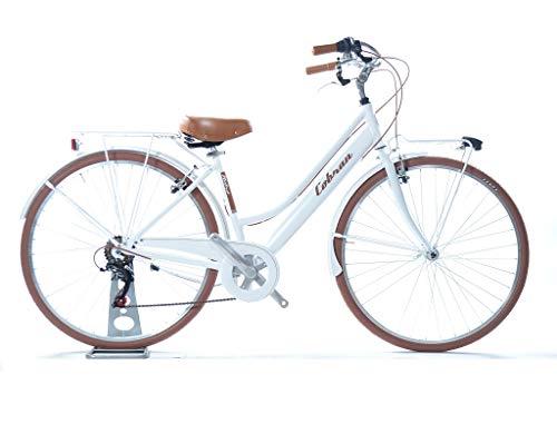 Cobran City Bike Vintage Retro de Aluminio, Blanco: Amazon.es ...