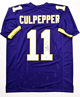 Autographed Daunte Culpepper Jersey - Purple Pro Style Beckett Auth *R1 - Beckett Authentication - Autographed NFL Jerseys