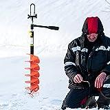 VEVOR Ice Drill Auger, 8'' Diameter Nylon Ice Auger, 41'' Length Ice Auger Bit,...