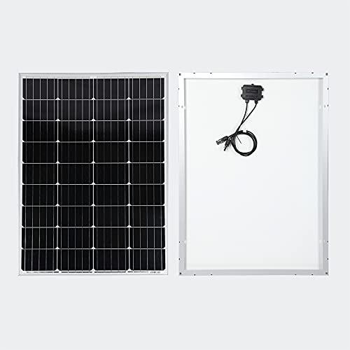 Solarmodul 100W für 12V Batterieladung Monokristallin Solarpanel für...