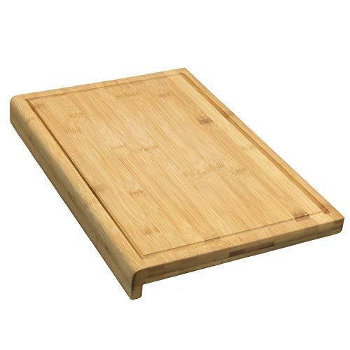 Coninx Planche à découper en Bambou - 45 x 30 x 2,5 cm - Planche à découper Robuste en Bois de Bambou avec rigole 5 Ans