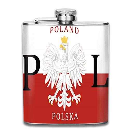 Fläschchen Polska Polska aus Edelstahl für Herren, auslaufsicher, für den Außenbereich, tragbar, für Alkohol, Whisky, Rum und Wodka