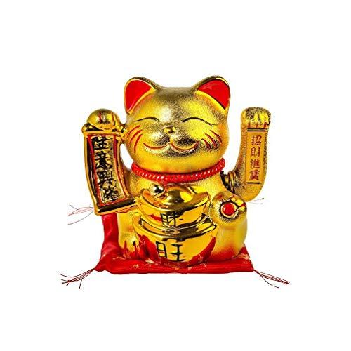 """lachineuse Lacheuse – Gatto Giapponese """"Richesse et Fortune"""" – Braccio Mobile – Colore Oro"""