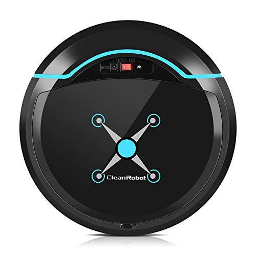 Bewinner Silencioso Robot Aspirador y Fregasuelos, Limpiador Automatico con Navegación Inteligente,Tejido de Microfibra,Robot...