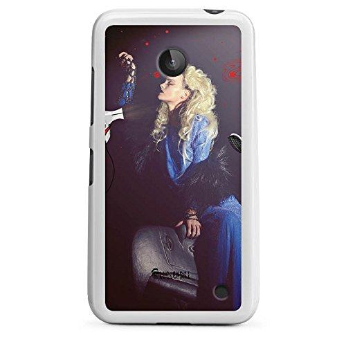 DeinDesign Nokia Lumia 630 Dual SIM Hülle Silikon Case Schutz Cover Frau Föhn Kamm