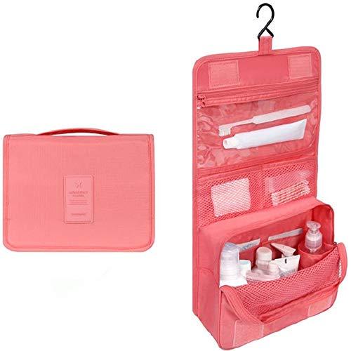 BEI&YANG L'Organisateur De Voyages (Trousse De Toilette Cosmétiques Création Maquillage Beauté Tient des Sac Pochette Cas Cas,Rose