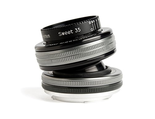 Lensbaby Composer Pro II W Sweet 35 Optic - Objetivo para Canon EOS (35 mm, f/2.5) Color Negro