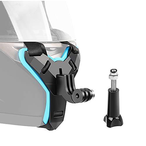 KKmoon Capacete de rosto inteiro Suporte de mandíbula para montagem do queixo Correia de capacete de motocicleta para GoPro Hero 7/6/5/4/3 SJCAM sj5000 / 6000/7000 DJI Osmo Action XIAOYI Câmera de aç