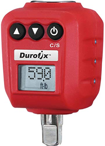 "Durofix RM602-3 3/8"" (5.9 to 59 ft-lbs.) Heavy Duty Digital Torque Adapter with Buzzer and LED Flash Notification – ISO 6789 Standards with Certificate of Calibration"