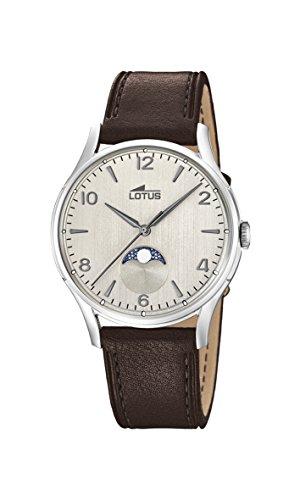 Lotus Watches Reloj Fase Lunar para Hombre de Cuarzo con Correa en Cuero 18427/1