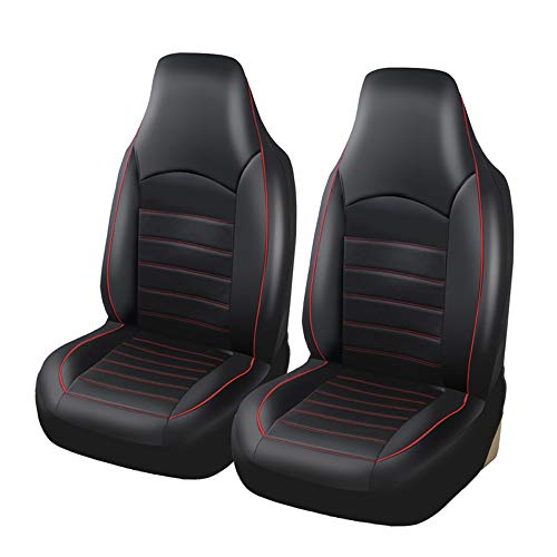 red and blue seat covers car - 4
