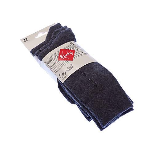 Preisvergleich Produktbild Kindy Socken aus Baumwolle,  3 Paar Gr. 39 / 42,  grau