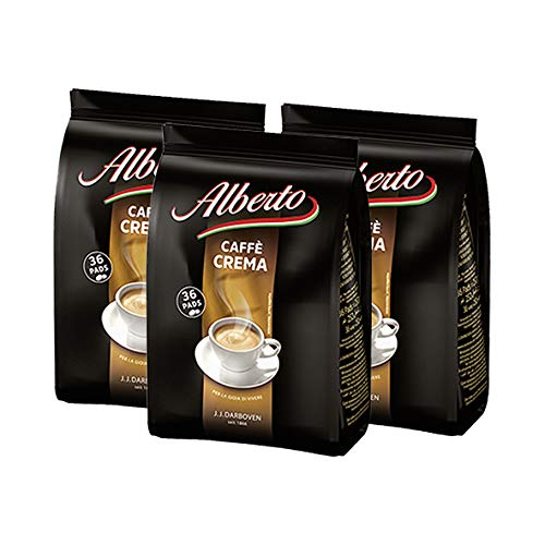 Alberto Caffe Crema 36 Pads 252g / 3er Pack