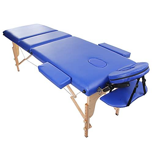 Estink Table de Massage, lit de Spa Solide et Ferme avec 2 accoudoirs pour lit de beauté