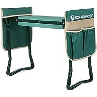 SONGMICS Folding Garden Kneeler with Upgraded Thicken Kneeling Pad