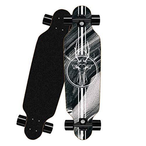 Fengyj Mini Longboard Cruiser Skateboard 31 Inch Mit ABEC-7 Kugellager Für Anf?Nger Kinder Und Erwachsene,Deer Head