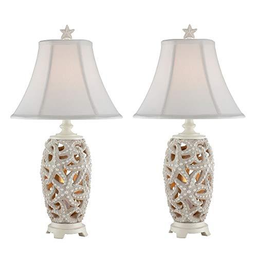 Accent Starfish Night Light Table Lamp 24.5' High White Nautical Coastal Bulbs Included