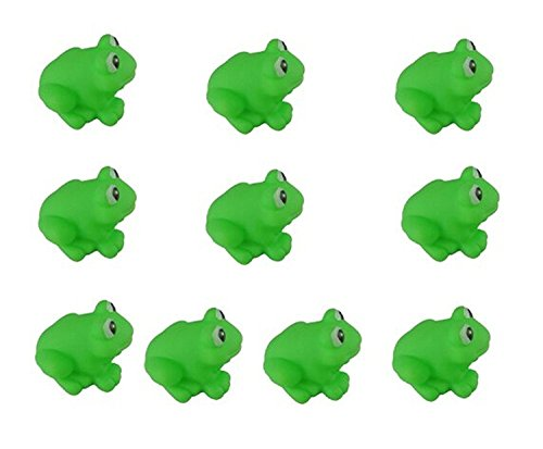 Newin Star 10 Pieces Baby Bathtub Toys Water Fun Bath Toys Rubber Floating Bath Toys Best Gift for Children Toys for Bath (Frog)