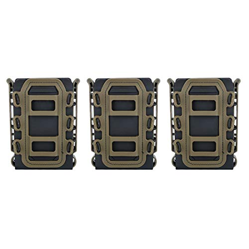 WOLFBUSH Tactical Fast Mag, 3Pcs WST Scorpion Mag Pouch Fast Mag for 5.56/7.62 Mag
