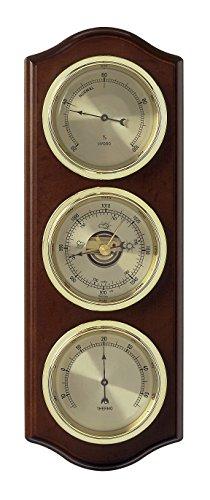 TFA Dostmann Traditionelle Barometer Spalte Wetterstation–Braun