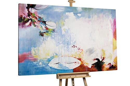 'Blank Mind' 180x120cm | Abstrakt Lila Weiß XXL | Modernes Kunst Ölbild