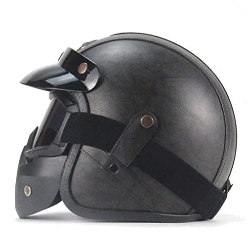 YQG Casco de moto abierto Cascos Integrales Moto Mujer Cascos Open Face Casco Moto Carrera