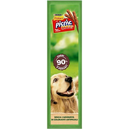 Purina Friskies Picnic Maxi Snack Cane Ricco in Manzo, 36 Confezioni da 15g Ciascuna