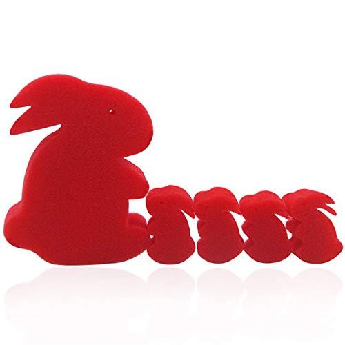WSNMING 5 Pcs/Set Funny Magic Sponge Rabbit Magic Tricks Prop Education Toys Close-up Magic Toy