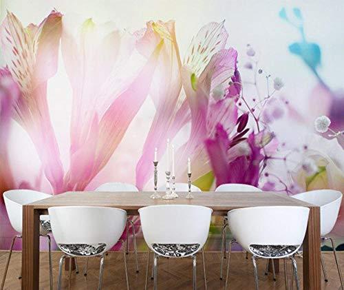 SKTYEE Tapete der abstrakten Kunst, abstraktes Blumenstrauß-Wandgemälde, Foto 3D für Wohnzimmerkonferenzzimmer-Schlafzimmerhintergrund @ 250x175_cm_ (98.4_by_68.9_in_)