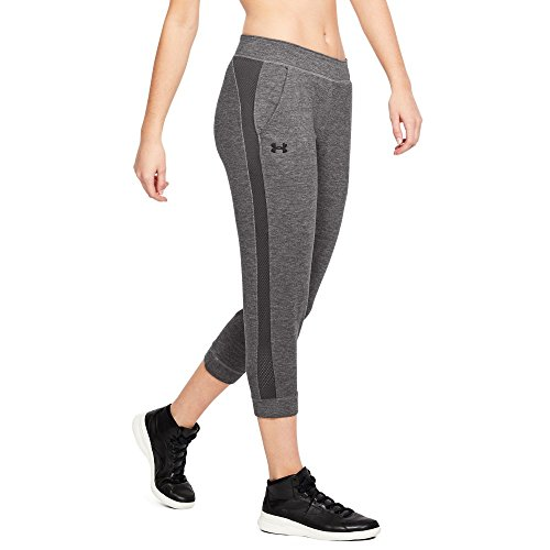 Under Armour Featherweight Short Femme, Charcoal Medium Heat, FR : L (Taille Fabricant : L)