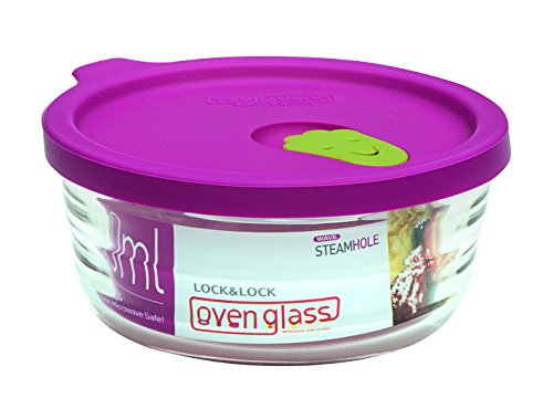 Lock & Lock LLG741 Ovenglas für Mikrowelle und Ofen, Glas, tranparent, Ø119×54mm, 280ml
