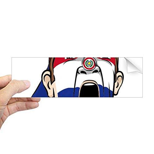 DIYthinker Paraguay Vlag Gezichtsmasker Pet Rechthoek Bumper Sticker Notebook Window Decal