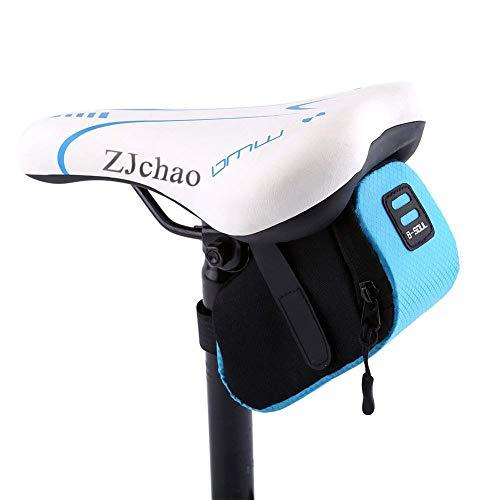 ZJchao Bolso para Sillín Alforjas tija sillín de Ciclismo Impermeable para Bicicletas de Montaña y de Carretera Asiento Paquete (Azul)