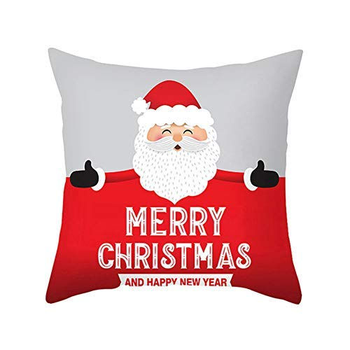 Geminimall Christmas Decorations Sale,Happy Christmas Pillow Cases Sofa Cushion Cover Home Decor Pillow Case Merry Christmas Decorative Xmas Decor Ornaments Party Decor Gifts for Kids and Adults G