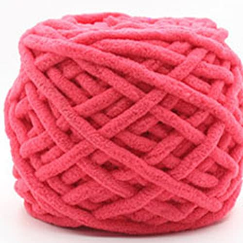 Zoomlie 100 g de hilo grueso azul para lana de ganchillo hecho de algodón 100% poliéster, hilo de...