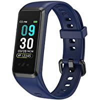 BingoFit Fitness Activity Tracker Watch with Blood Pressure and Blood Oxygen (Blue)