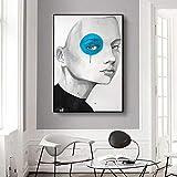 ganlanshu Pintura sin Marco Retrato Abstracto de Foto de póster de Mujer sobre Lienzo, Utilizado para la decoración de la Sala de Estar ZGQ4570 60X90cm