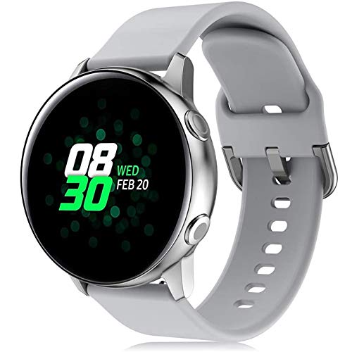 DXFFOK Samsung Galaxy Watch 3アクティブ2 / 42mm / 41mm /ギアS3 /スポーツシリコーンブレスレットSmar Twatch for Huawei Watch Gt 2 Band 46 (Band Color : Silver white 6, Band Width : Hauwei GT2 2e 46mm)
