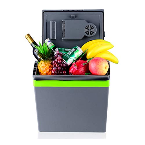 HBLWX Réfrigérateur de Voiture Capacity capacité de 25 litres Mini réfrigérateur Coffre avec Refroidissement et Chauffage -AC/DC-pour Les Voyages en Plein air Navire Cargo