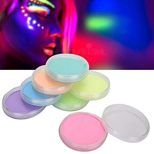 30g 7 colores fluorescentes cara pintura corporal pigmento decoración navideña diamante cuerpo pintado brillo polvo conjunto pintura corporal pigmento fiesta maquillaje