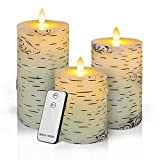 Christmas Candles Gifts,Snowman LED Flameless Candles Battery Operated Pillar Candle Moving Effect Flickering Candles with Remote Timer for Christmas Decoration,4' 5' 6' Pack of 3 (Multi-Colored)