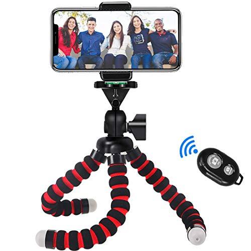 Handy Stativ, Mini Flexible Smartphone Stativ, iPhone Stativ mit Bluetooth Fernbedienung, Handy Halter Halterung für Kamera, iPhone, Samsung Galaxy(Medium 11.02