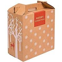 Kartox   Caja para Vino   Estuche de 6 botellas de vino   Caja para lote de navidad   Impreso   4 Unidades