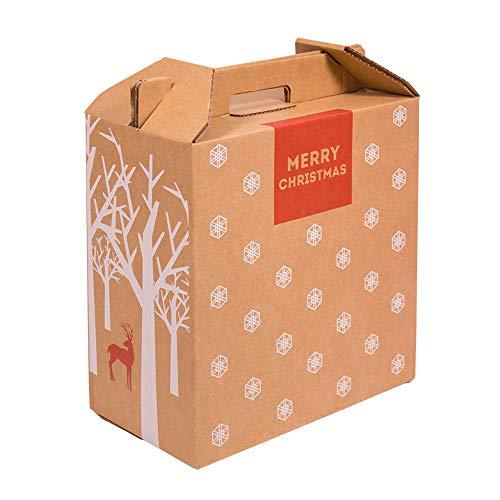 Kartox | Caja para Vino | Estuche de 6 botellas de vino | Caja para lote de navidad | Impreso | 4 Unidades