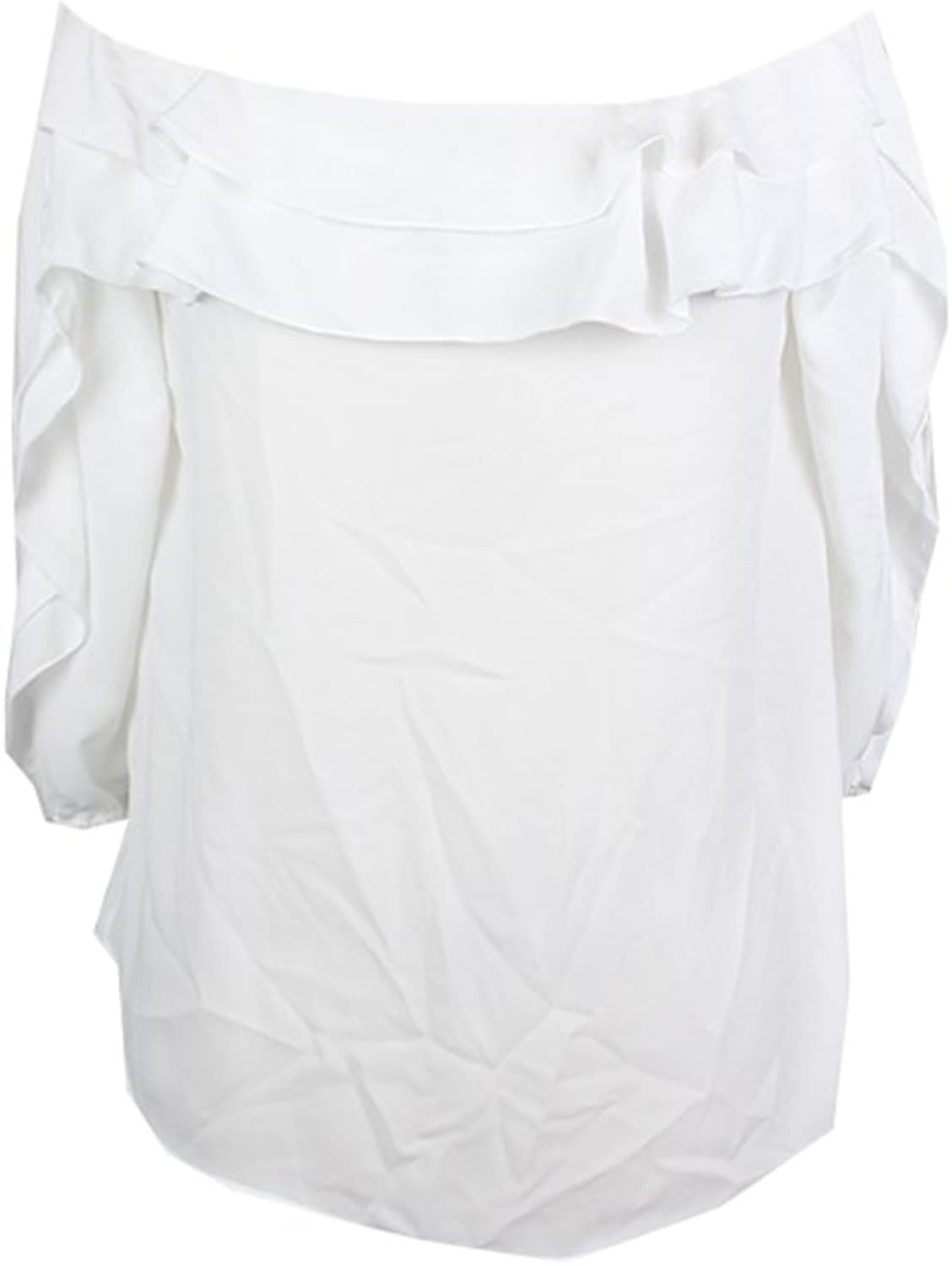 INC International Concepts Women's Ruffled OffTheShoulder Top