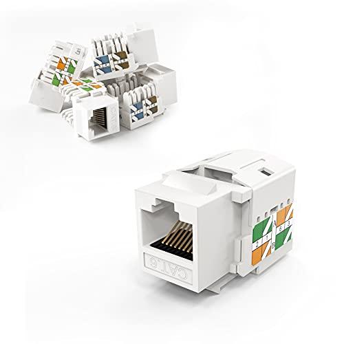 CableCreation 5-Pack Cat6 / RJ45 Keystone módulo Conector, Blanco